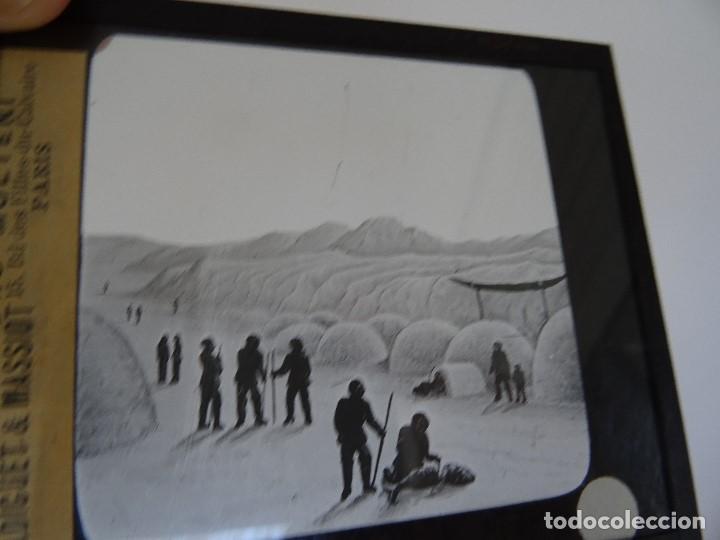 CRISTAL 10 X 8,5 MOLTENI RADIGUET MASSIOT ESQUIMAOUX (Antigüedades - Técnicas - Aparatos de Cine Antiguo - Linternas Mágicas Antiguas)