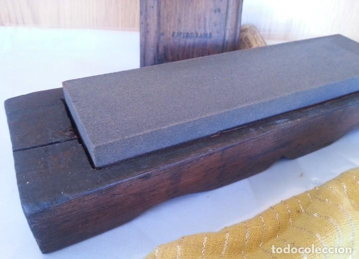 Antigüedades: Piedra de afilado para formones y herramientas de corte. Antigua. - Foto 2 - 107827355