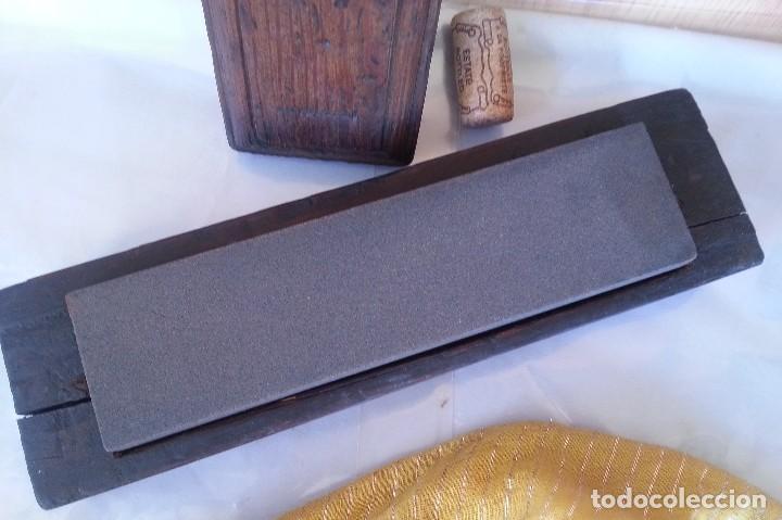 Antigüedades: Piedra de afilado para formones y herramientas de corte. Antigua. - Foto 3 - 107827355
