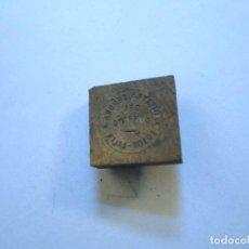 Antigüedades: LOSÓN LALÍN PONTEVEDRA ANTIGUO SELLO TAMPÓN PLANCHA DE IMPRENTA DE NTRA SRA DEL CORPIÑO. Lote 107844699