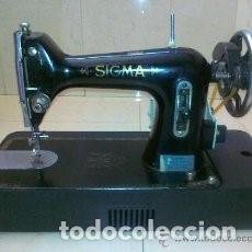 Antigüedades: MAQUINA DE COSER SIGMA CON MOTOR ELECTRICO. Lote 107855471