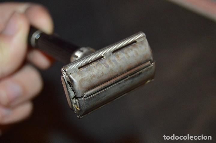 Antigüedades: VINTAGE - ANTIGUA MAQUINILLA DE AFEITAR GILLETTE - U 2 - MADE IN USA - HAZ OFERTA - LOTE Nº 3 - Foto 5 - 107927603