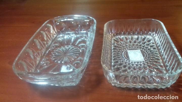 Antigüedades: Juego de bandejas en vidrio tallado. Frances antiguo - Foto 2 - 108381411