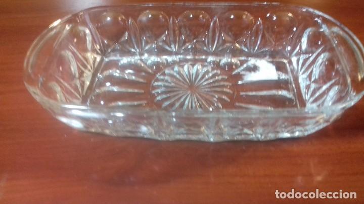 Antigüedades: Juego de bandejas en vidrio tallado. Frances antiguo - Foto 6 - 108381411