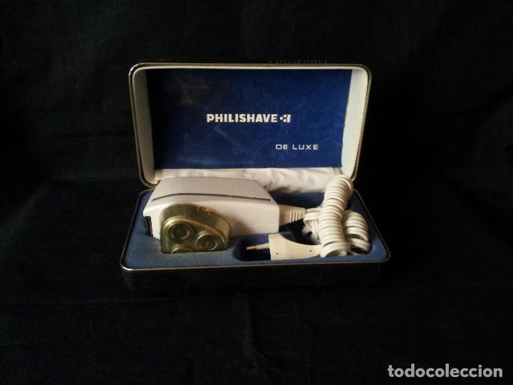 ANTIGUA MAQUINA DE AFEITAR PHILIPSHAVE 3 DE LUXE EN SU CAJA - FUNCIONANDO (Antigüedades - Técnicas - Barbería - Maquinillas Antiguas)