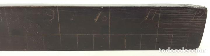 Antigüedades: REGLA. MADERA DE CAOBA. ESCALA EN PULGADAS. EUROPA. SIGLO XIX-XX. - Foto 3 - 108434559