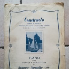 Antiquités: CONSTRUCTO PLANO BALANDRO 101 FABRICA MENORCA. Lote 108442796