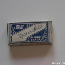 Antigüedades: ESTUCHE HOJAS DE AFEITAR KLINGE BLADE ESPAÑA COMPLETO. Lote 108456523