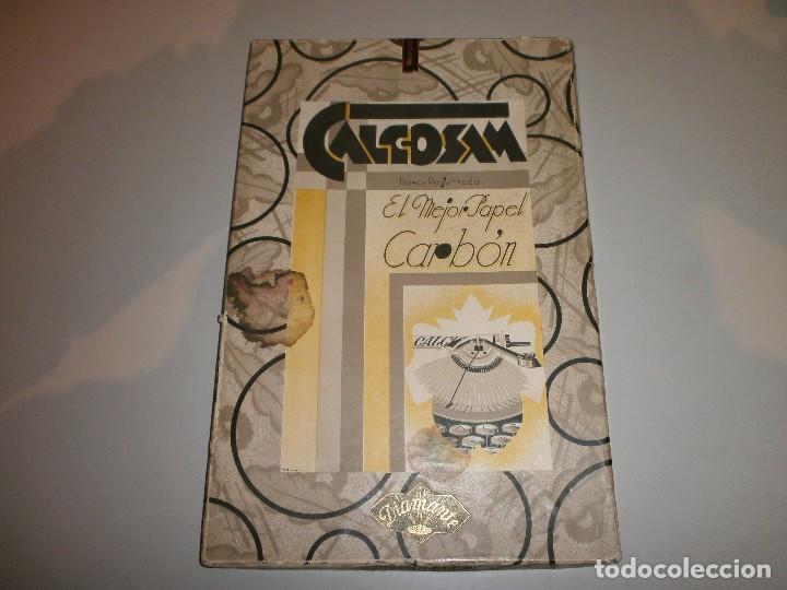 ANTIGUA CAJA PAPEL CARBON CALCOSAM DIAMANTE AÑOS 20 (Antigüedades - Técnicas - Máquinas de Escribir Antiguas - Otras)