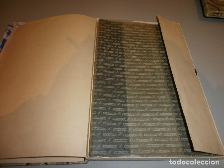 Antigüedades: antigua caja papel carbon calcosam diamante años 20 - Foto 3 - 108456987