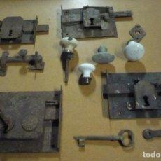 Antigüedades: LOTE DE CERRADURAS. Lote 108460539