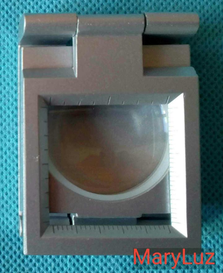 Antigüedades: LUPA-CUENTAHILOS PLEGABLE, DE METAL. (2). Nueva. En su caja original. Fabricada en Japón. - Foto 3 - 108461175