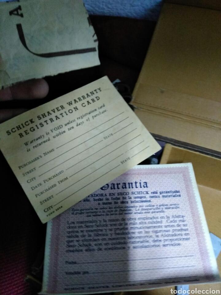 Antigüedades: Antigua maquinilla de afeitar SHICK DRY SHAVER made in canada en caja de piel muy buen estado maquin - Foto 6 - 108537260