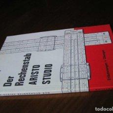 Antigüedades: LIBRO DER RECHENSTAB ARISTO STUDIO O. HASSENPFLUG - REGLA DE CALCULO SLIDE RULE RECHENSCHIEBER -. Lote 108706747