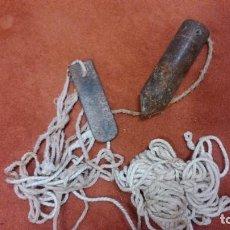 Antigüedades: ANTIGUA PLOMADA DE ALBAÑIL POR SÓLO QUINCE EUROS. Lote 108753623