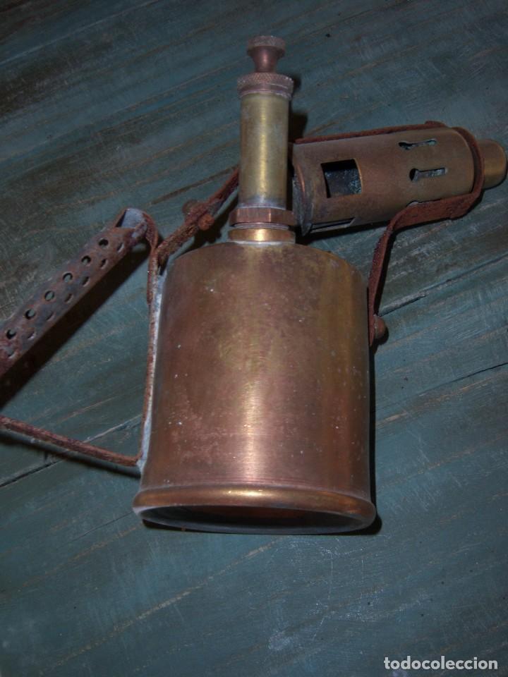 Antigüedades: lamparilla de fontanero - Foto 2 - 108765107