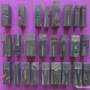 Antigüedades: TIPOGRAFIA, LOTE 25 LETRAS, IMPRENTA ANTIGUAS, MADERA DE BOJ, LITOGRAFIA ORTEGA, ORIGINALES, L3. Lote 108800071