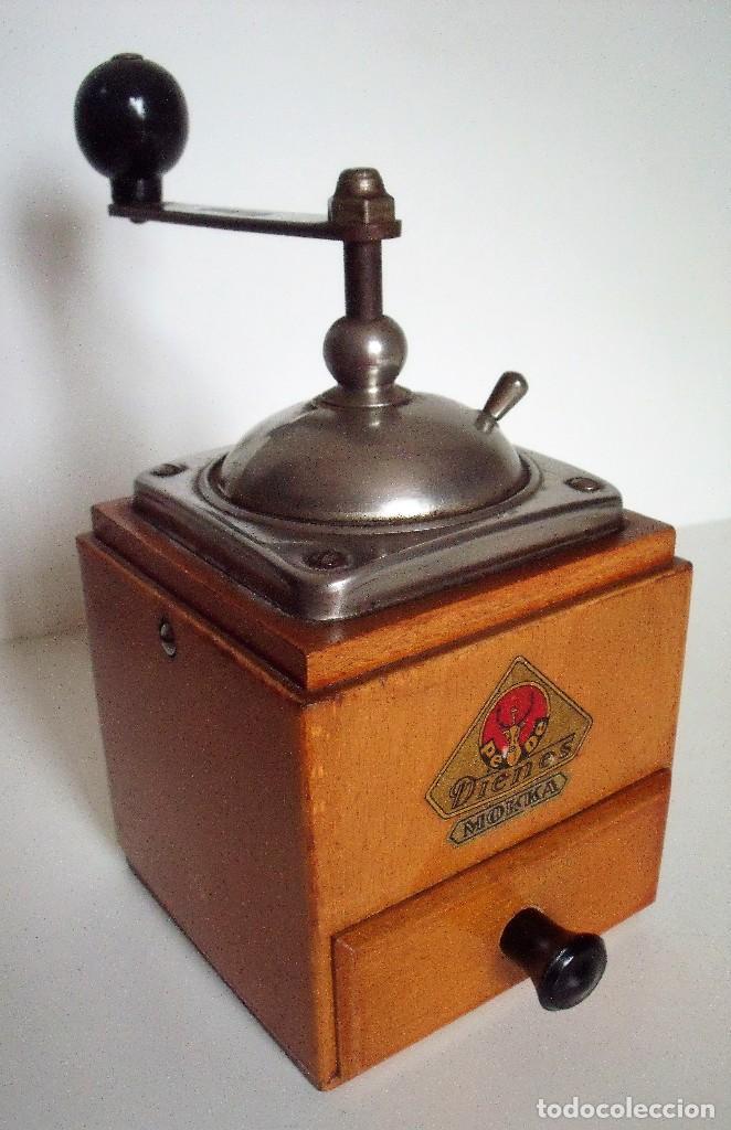 MOLINILLO DE CAFÉ MARCA DIENES. MODELO 600. ALEMANIA. CA. 1950 (Antigüedades - Técnicas - Molinillos de Café Antiguos)