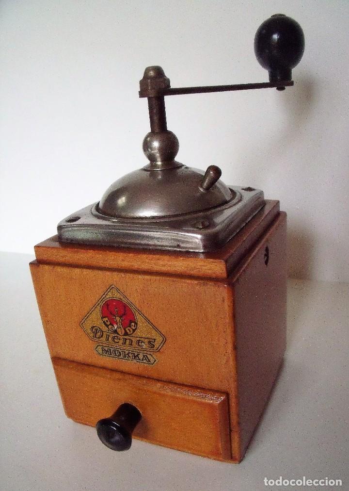Antigüedades: MOLINILLO DE CAFÉ MARCA DIENES. MODELO 600. ALEMANIA. CA. 1950 - Foto 2 - 108848251