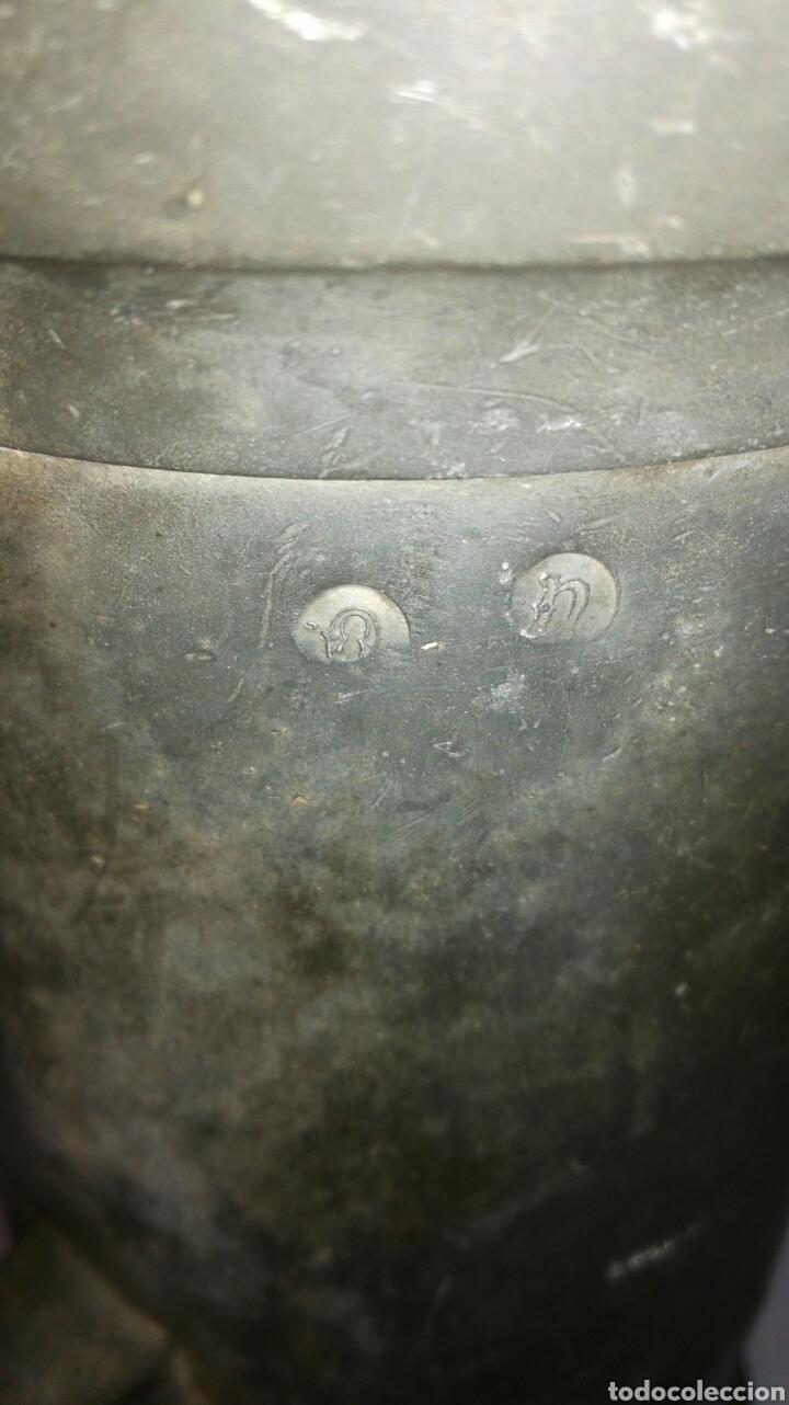Antigüedades: Medida de estaño JM / - Foto 3 - 108900432