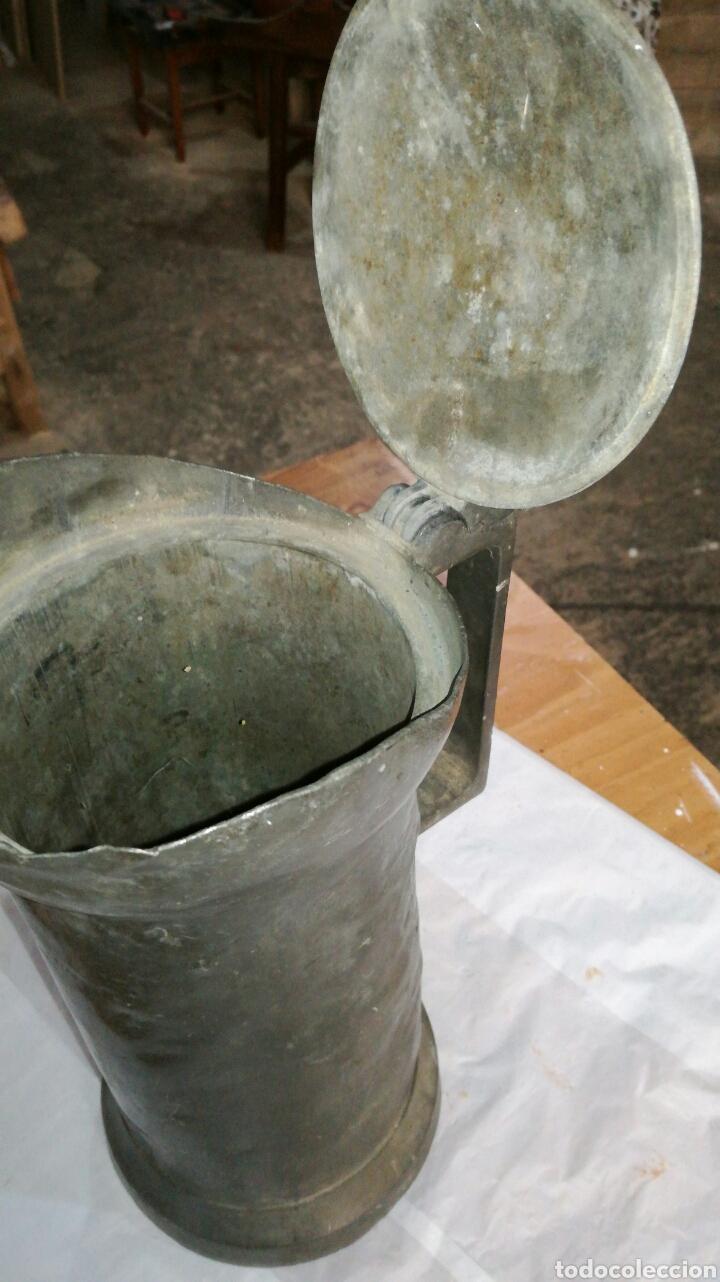 Antigüedades: Medida de estaño JM / - Foto 4 - 108900432