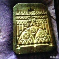 Antigüedades: PLANCHA MOLDE IMPRENTA FUNDICIÓN VIDRIERA GÓTICA MODERNISTA HIERRO. Lote 108916495