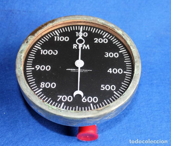JONES - TACOMETRO MARINO DE 0 A 1200 RPM AÑOS 40 ( COLECCION ) (Antigüedades - Técnicas - Herramientas Profesionales - Mecánica)