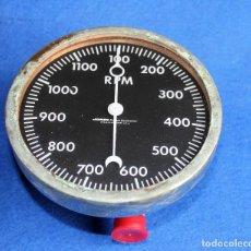 Antigüedades: JONES - TACOMETRO MARINO DE 0 A 1200 RPM AÑOS 40 ( COLECCION ) . Lote 109024595