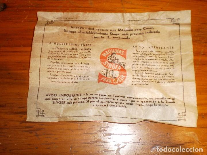 Antigüedades: antigua maquina coser singer 1933 - Foto 11 - 109040167