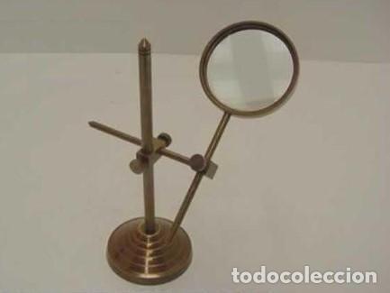 LUPA CON SOPORTE (Antigüedades - Técnicas - Instrumentos Ópticos - Lupas Antiguas)