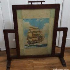 Antigüedades: SALVA CHISPAS O PANTALLA DE CHIMENEA ANTIGUO NAUTICO OBRA DE ARTE AÑO 1908 PRECIO: 251,00 €. Lote 109152079