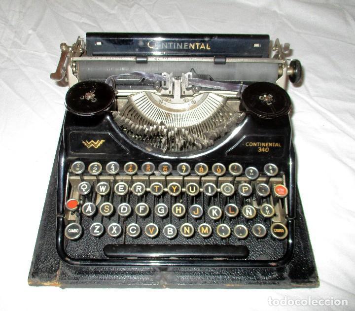 MÁQUINA DE ESCRIBIR CONTINENTAL WANDERER 340 PORTÁTIL CON SU ESTUCHE ORIGINAL. (Antigüedades - Técnicas - Máquinas de Escribir Antiguas - Continental)