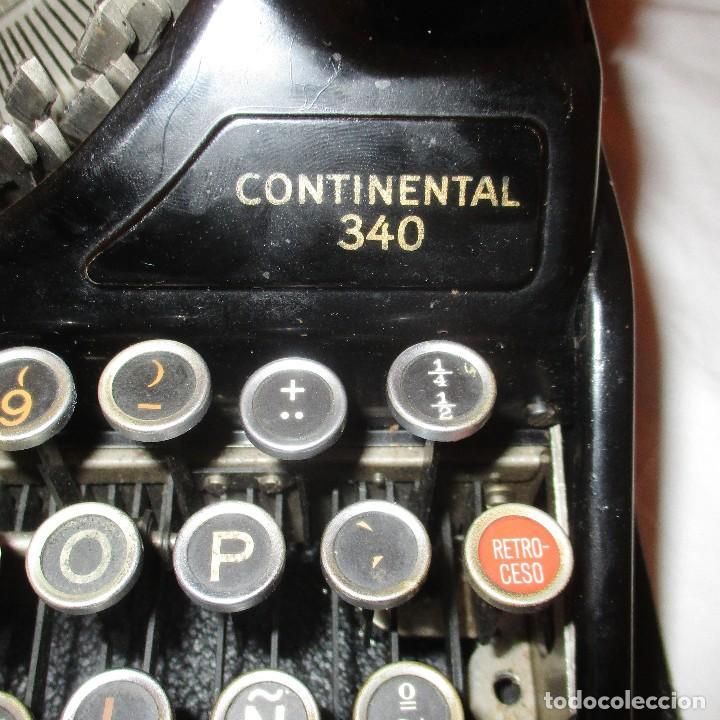 Antigüedades: MÁQUINA DE ESCRIBIR CONTINENTAL WANDERER 340 PORTÁTIL CON SU ESTUCHE ORIGINAL. - Foto 6 - 109234827