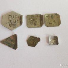 Antigüedades: PESAS EN MILIGRAMOS 500 A 20 DE 1915-47. Lote 109268923