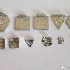 Antigüedades: PESAS EN MILIGRAMOS COMPLETAS CONTRASTADAS. Lote 109269491