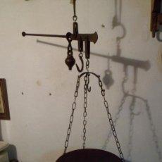 Antiquités: BONITA BALANZA ROMANA DE HIERRO FORJADO FUERZA HASTA13 LB SIGLO XIX (BRFER4). Lote 109276663
