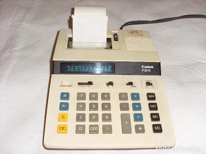 CALCULADORA ANTIGUA MODELO CANON P31-D (Antigüedades - Técnicas - Aparatos de Cálculo - Calculadoras Antiguas)
