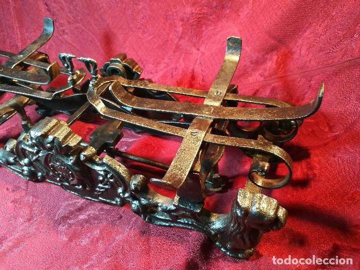 Antigüedades: EXPECTACULAR BALANZA ESPAÑOLA CON ESCUDO LOGO DE FARMACIA ORIGINAL ESPAÑA SIGLO XIX - Foto 31 - 109306863