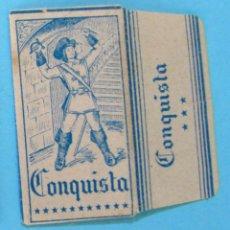 Antigüedades: HOJA DE AFEITAR. CONQUISTA. PRECIO: 0,40 PTAS. ESPAÑOLA. FABRICANTE: H.R.R. S.A.. Lote 109562426