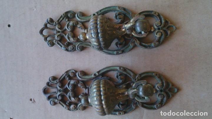 Antigüedades: 2 PRECIOSOS TIRADORES PUERTA ARMARIO - Foto 2 - 110015927