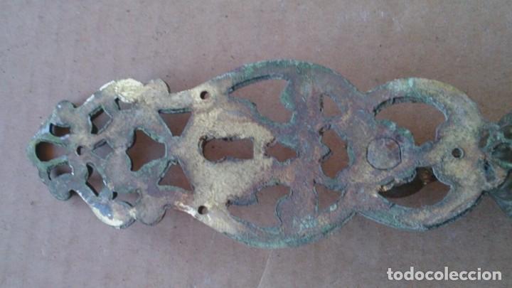 Antigüedades: 2 PRECIOSOS TIRADORES PUERTA ARMARIO - Foto 7 - 110015927