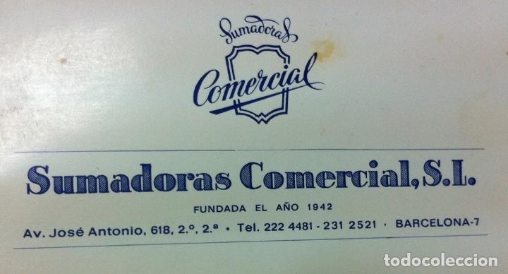 Antigüedades: ANTIGUA CALCULADORA SUMADORA - MARCA SUMCO - FUNCIONA - LIBRO DE INSTRUCCIONES Y FUNDA ORIGINALES - Foto 3 - 110134971