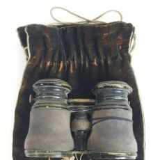 Antigüedades: BINOCULARES DE OPERA. FUNDA DE TELA. TEATRO CAMPO MARINA. SIGLO XIX. . Lote 110185055