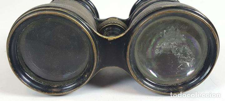 Antigüedades: BINOCULARES DE OPERA. FUNDA DE TELA. TEATRO CAMPO MARINA. SIGLO XIX. - Foto 2 - 110185055