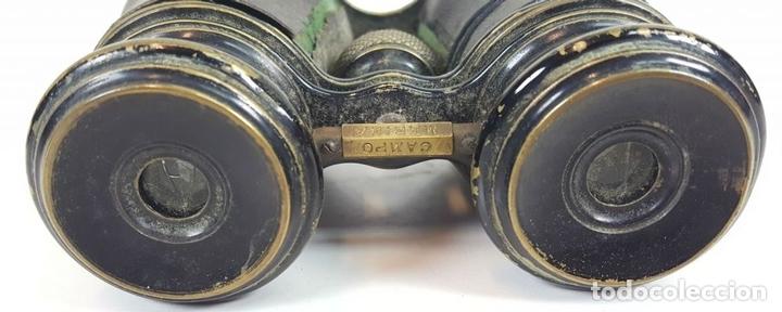 Antigüedades: BINOCULARES DE OPERA. FUNDA DE TELA. TEATRO CAMPO MARINA. SIGLO XIX. - Foto 4 - 110185055