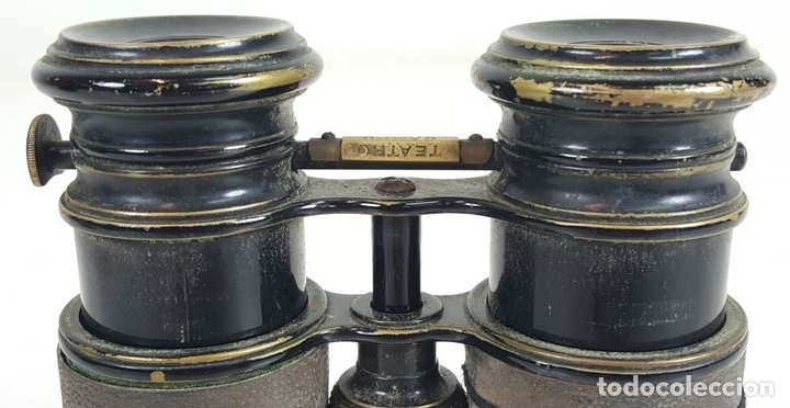 Antigüedades: BINOCULARES DE OPERA. FUNDA DE TELA. TEATRO CAMPO MARINA. SIGLO XIX. - Foto 7 - 110185055