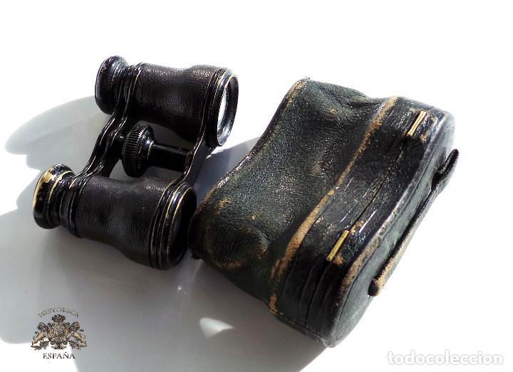 BINOCULARES DE TEATRO DE FINALES DEL SIGLO XIX CON SU ESTUCHE ORIGINAL (Antigüedades - Técnicas - Instrumentos Ópticos - Binoculares Antiguos)