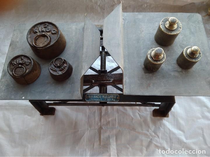 Antigüedades: Balanza Plegable (Patentada) Fuerza 50Kg - Foto 2 - 110372047