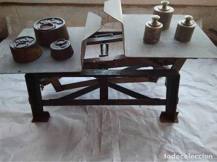 Antigüedades: Balanza Plegable (Patentada) Fuerza 50Kg - Foto 4 - 110372047