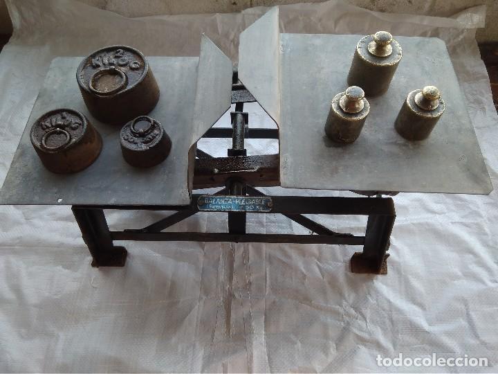 Antigüedades: Balanza Plegable (Patentada) Fuerza 50Kg - Foto 5 - 110372047